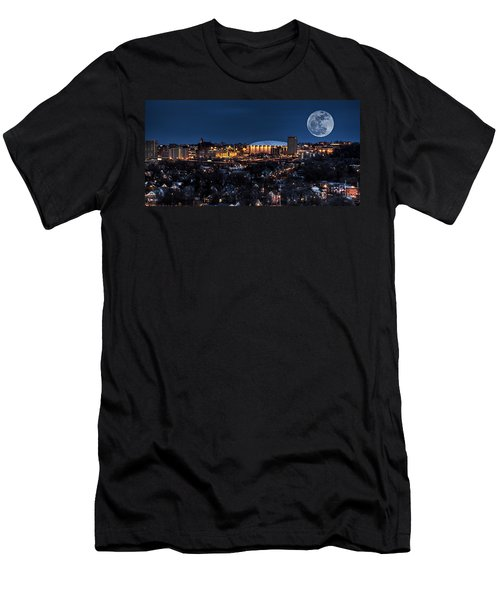 Moon Over The Carrier Dome Men's T-Shirt (Slim Fit) by Everet Regal