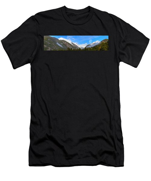 Moon Over The Rockies Men's T-Shirt (Athletic Fit)