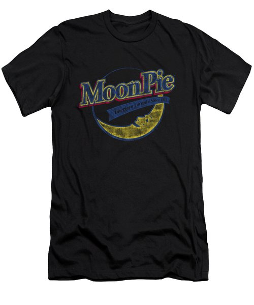 Moon Pie - Distressed Retro Logo Men's T-Shirt (Athletic Fit)