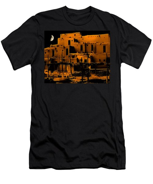 Moon Rise At The Pueblo Men's T-Shirt (Athletic Fit)