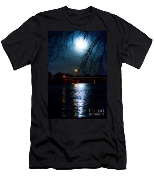 Moon Set Lake Pleasurehouse Men's T-Shirt (Athletic Fit)