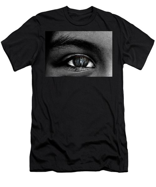 Moonlight In Your Eyes Men's T-Shirt (Athletic Fit)