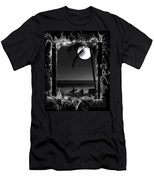 Men's T-Shirt (Slim Fit) featuring the photograph Moonlight Surf by Athala Carole Bruckner