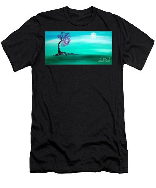 Moonlit Palm Men's T-Shirt (Athletic Fit)