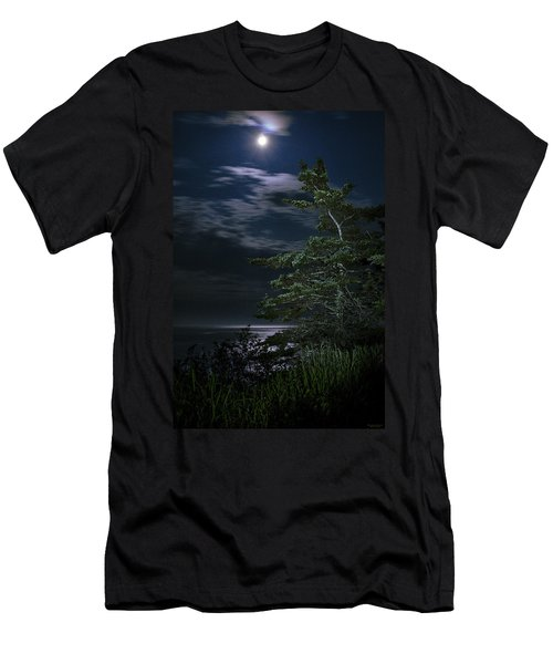 Moonlit Treescape Men's T-Shirt (Athletic Fit)