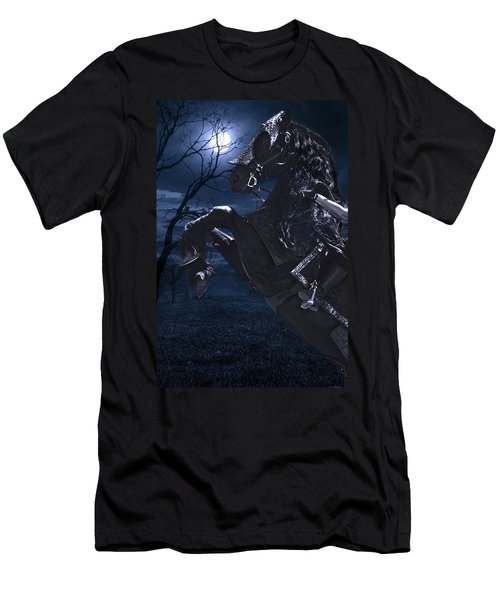 Moonlit Warrior Men's T-Shirt (Slim Fit) by Wes and Dotty Weber