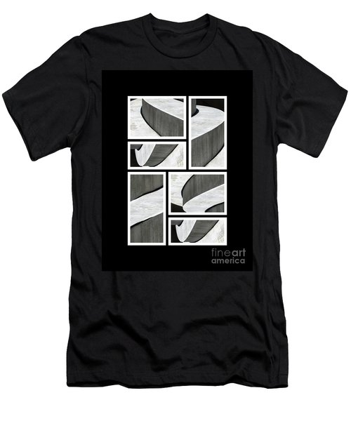 Moonscapes. Abstract Photo Collage 01 Men's T-Shirt (Slim Fit) by Ausra Huntington nee Paulauskaite