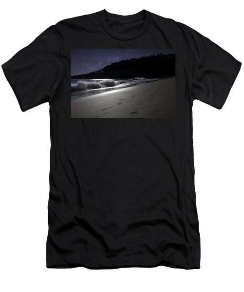 Moonshine Beach Men's T-Shirt (Slim Fit) by Brent L Ander