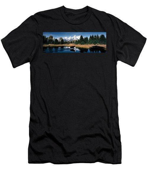Moose & Beaver Pond Grand Teton Men's T-Shirt (Athletic Fit)