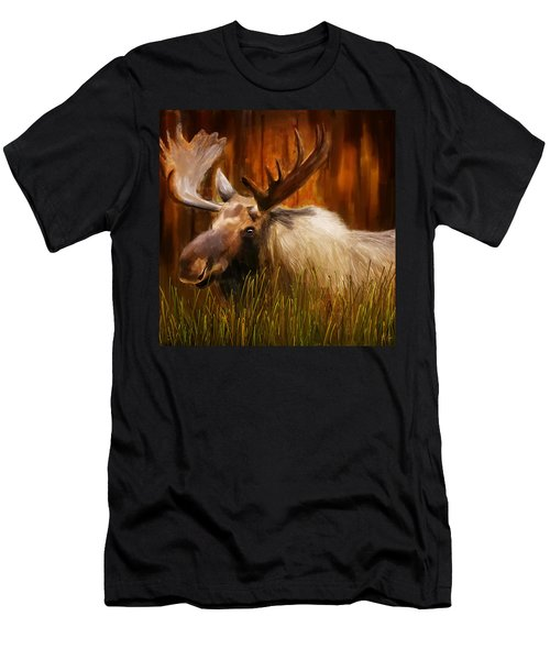 Moose Solitude Men's T-Shirt (Athletic Fit)