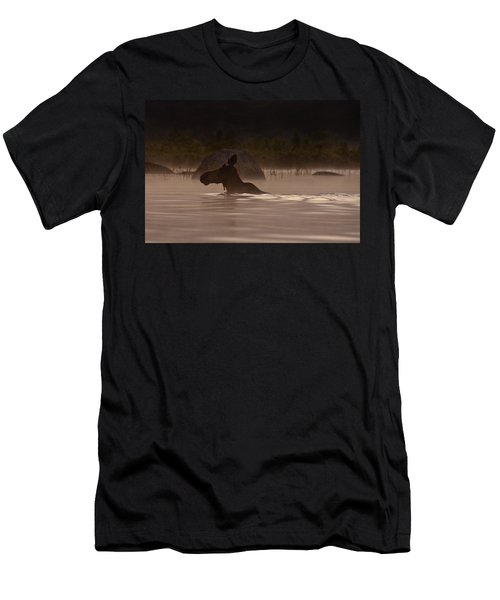 Moose Swim Men's T-Shirt (Athletic Fit)