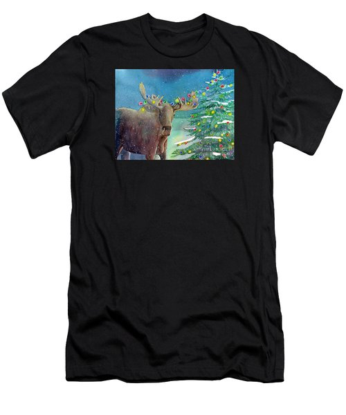 Moosey Christmas Men's T-Shirt (Athletic Fit)