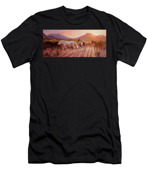 More Than Light Arizona Sunset And Wild Horses Men's T-Shirt (Athletic Fit)