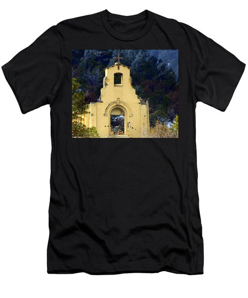 Men's T-Shirt (Slim Fit) featuring the photograph Mountain Mission Church by Barbara Chichester