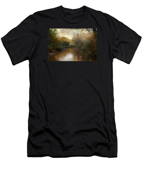 Men's T-Shirt (Slim Fit) featuring the photograph Morning At The River by John Rivera