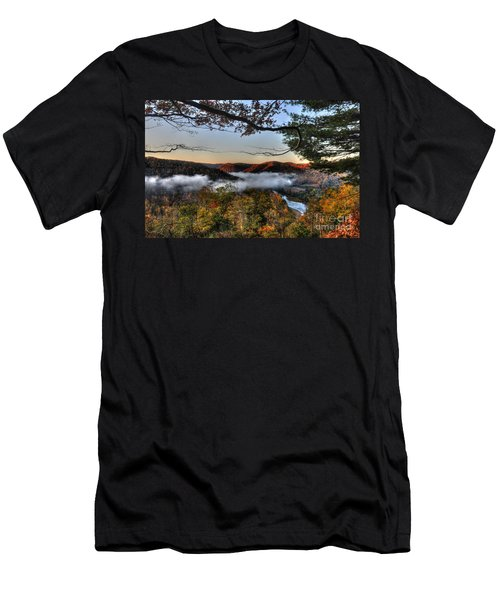 Morning Cheat River Valley Men's T-Shirt (Athletic Fit)
