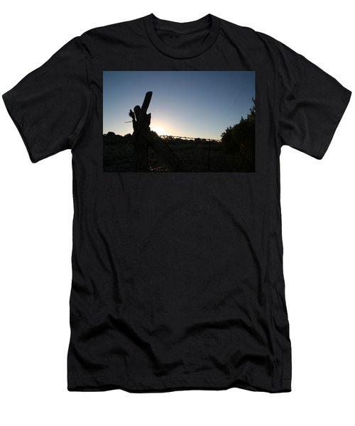 Men's T-Shirt (Slim Fit) featuring the pyrography Morning by David S Reynolds