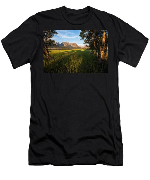 Men's T-Shirt (Slim Fit) featuring the photograph Morning In The Mountains by Jack Bell