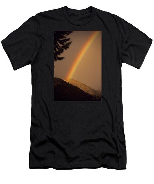 Morning Rainbow Men's T-Shirt (Athletic Fit)