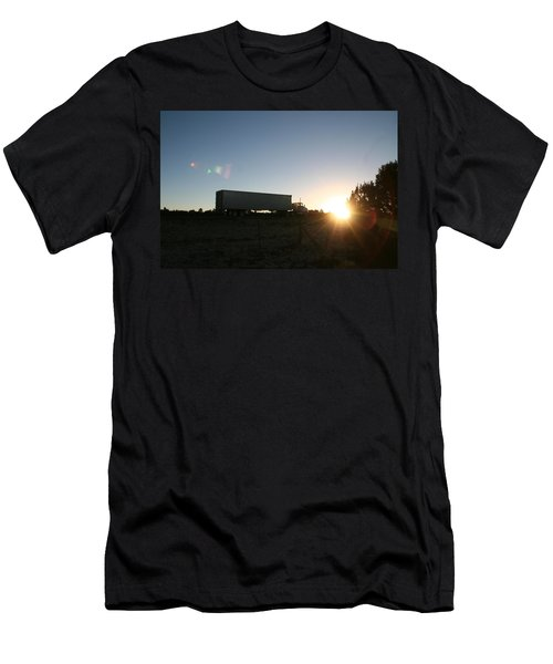 Men's T-Shirt (Slim Fit) featuring the photograph Morning Run by David S Reynolds