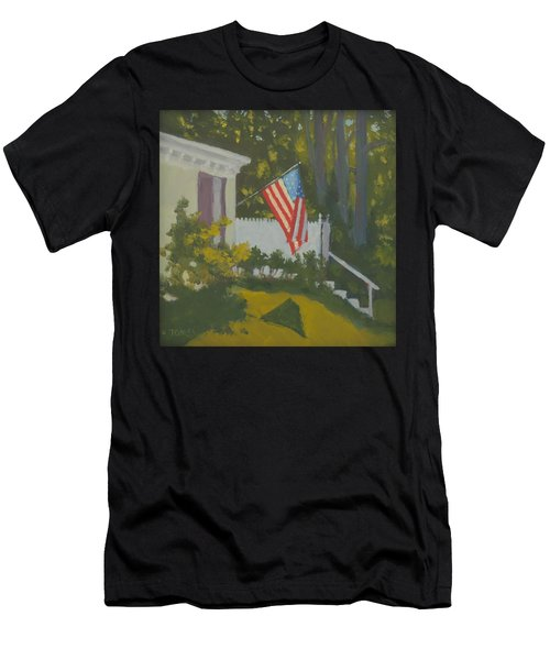 Morning Sun On Old Glory - Art By Bill Tomsa Men's T-Shirt (Athletic Fit)