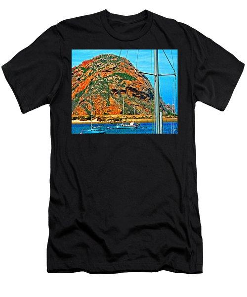 Moro Bay Sailing Boats Men's T-Shirt (Athletic Fit)