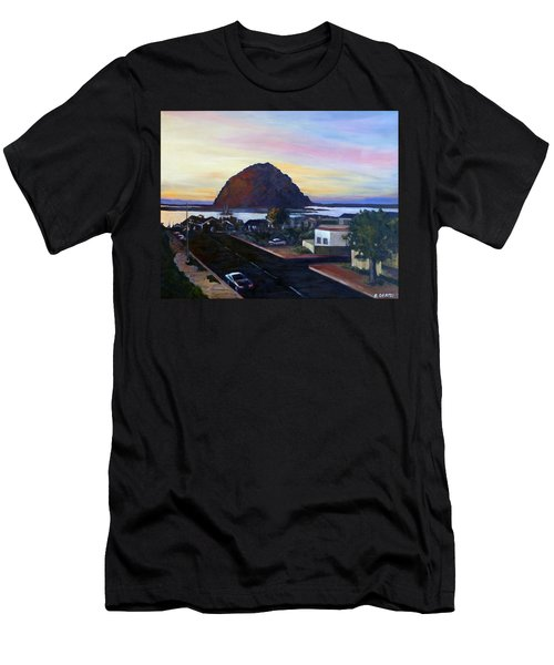 Morro Rock At Night Men's T-Shirt (Athletic Fit)
