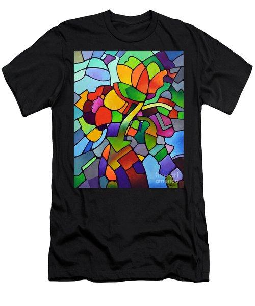 Mosaic Bouquet Men's T-Shirt (Athletic Fit)