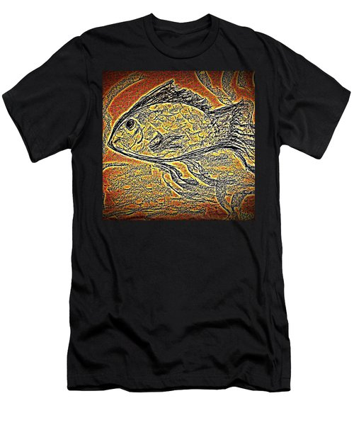 Mosaic Goldfish In Charcoal Men's T-Shirt (Athletic Fit)
