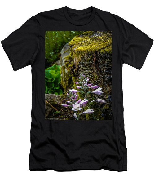 Moss And Flowers In Markree Castle Gardens Men's T-Shirt (Athletic Fit)