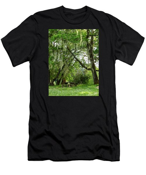 Men's T-Shirt (Slim Fit) featuring the photograph Moss Drapery by VLee Watson