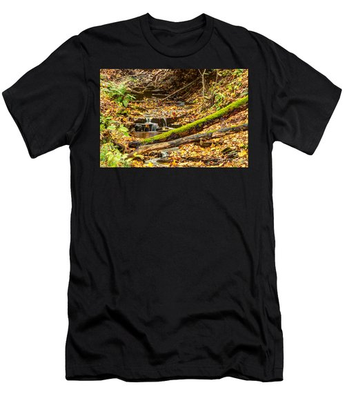 Mossy Log And Stream Men's T-Shirt (Athletic Fit)