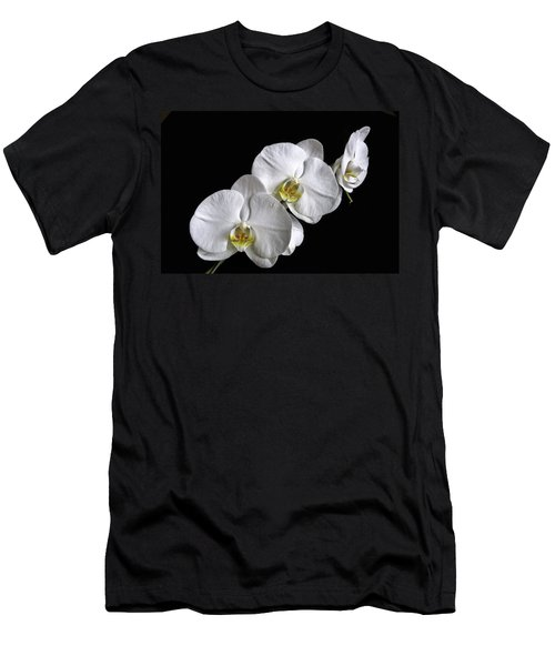 Moth Orchid Trio Men's T-Shirt (Slim Fit) by Ron White