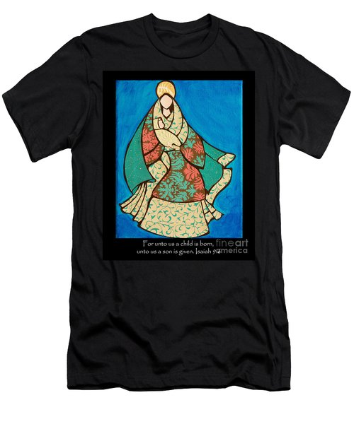 Mother Mary And Baby Jesus Men's T-Shirt (Athletic Fit)