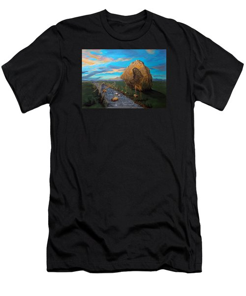 Men's T-Shirt (Slim Fit) featuring the painting Mother Of Anguishes  by Lazaro Hurtado