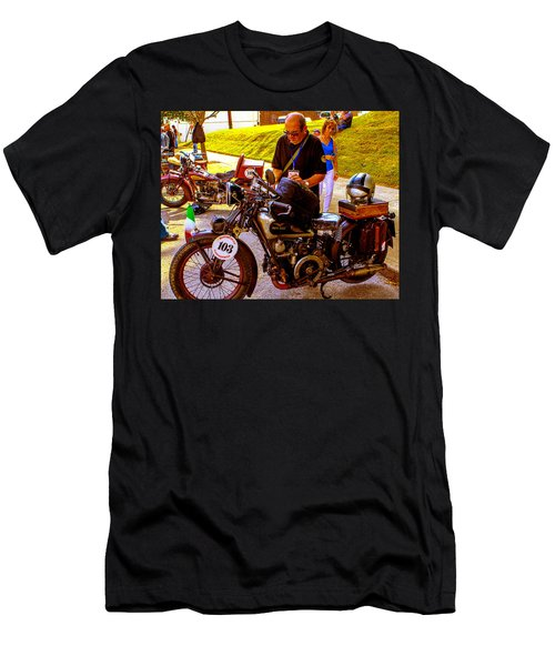 Moto Guzzi At Cannonball Motorcycle Men's T-Shirt (Athletic Fit)