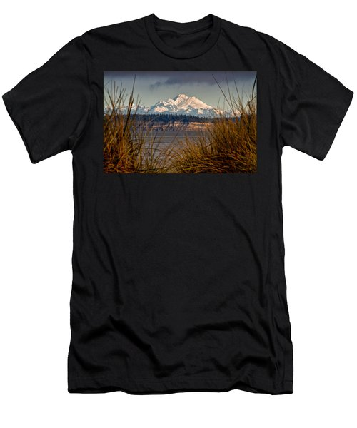 Mount Baker From Port Townsend Men's T-Shirt (Athletic Fit)