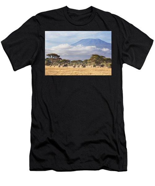 Mount Kilimanjaro Amboseli  Men's T-Shirt (Athletic Fit)