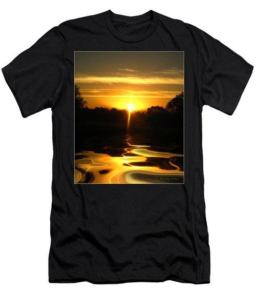 Mount Lassen Sunrise Gold Men's T-Shirt (Athletic Fit)