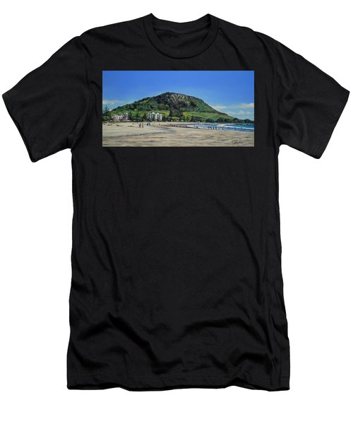 Mount Maunganui Beach 151209 Men's T-Shirt (Athletic Fit)