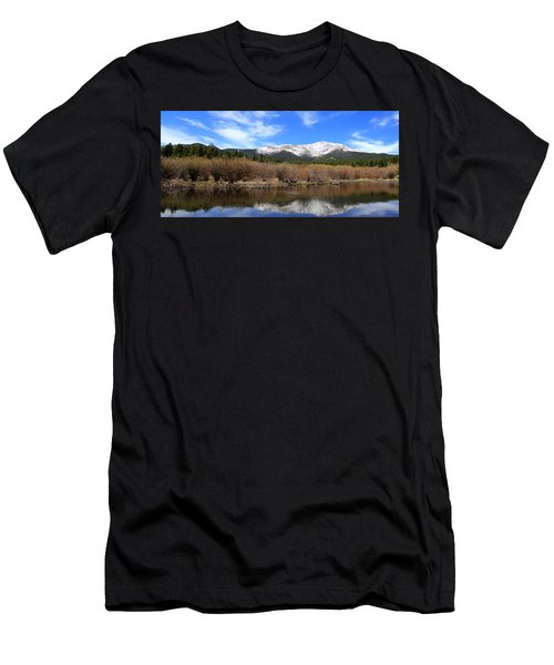 Mount Meeker - Panorama Men's T-Shirt (Athletic Fit)