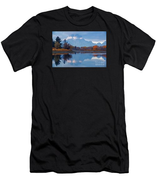 Mount Moran From Oxbow Bend In Autumn Men's T-Shirt (Athletic Fit)