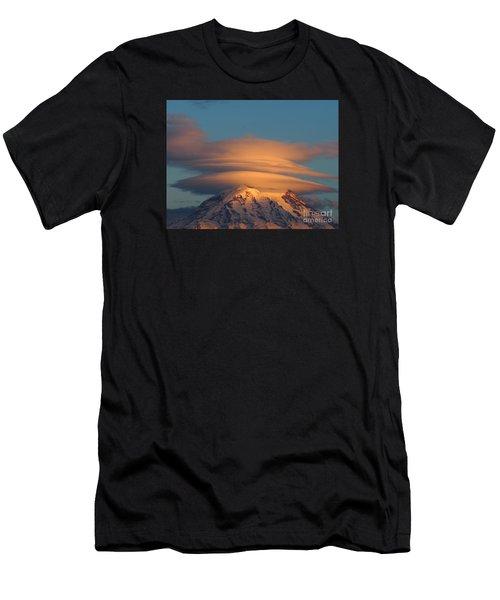 Mount Rainier In November  Men's T-Shirt (Athletic Fit)