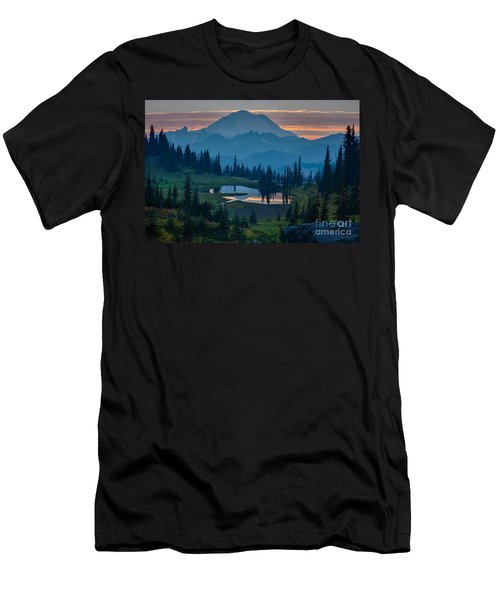 Mount Rainier Layers Men's T-Shirt (Slim Fit) by Mike Reid