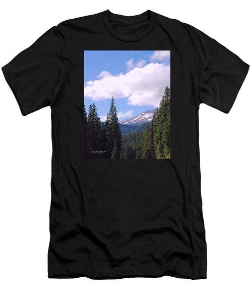 Mount Rainier National Park Men's T-Shirt (Slim Fit) by Connie Fox