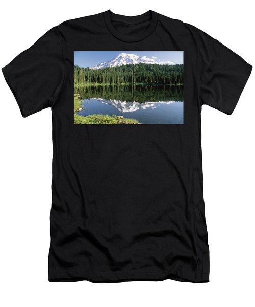 Mount Rainier Reflection Men's T-Shirt (Athletic Fit)