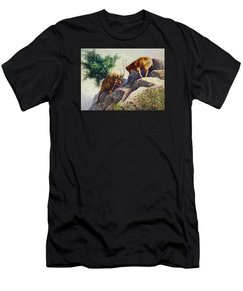 Mountain Goats - Powerful Fight  Men's T-Shirt (Athletic Fit)