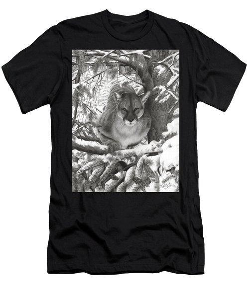 Mountain Lion Hideout Men's T-Shirt (Athletic Fit)