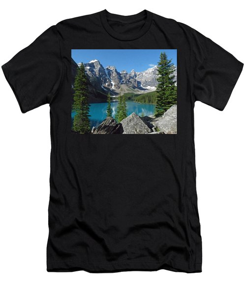Men's T-Shirt (Slim Fit) featuring the photograph Mountain Magic by Alan Socolik