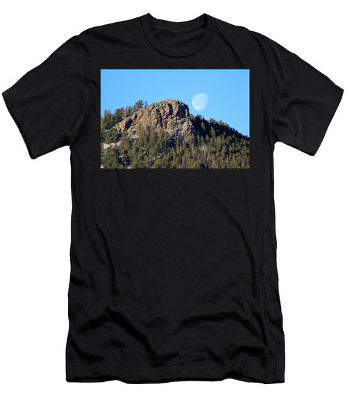 Mountain Moonset Men's T-Shirt (Athletic Fit)